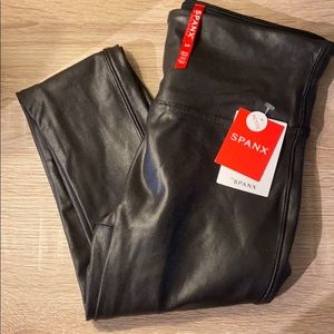 Faux leather leggings -spanx